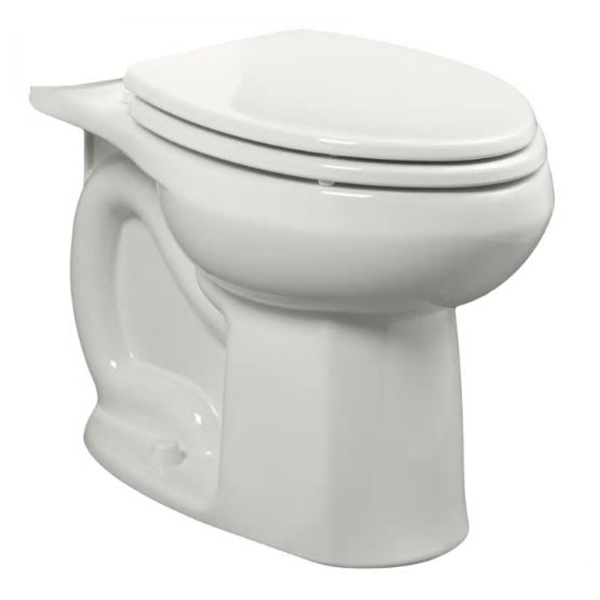 American Standard Colony® 3251C.101.020 White Vitreous China Elongated Toilet Bowl, 12 in Rough-In, 1.28 gpf