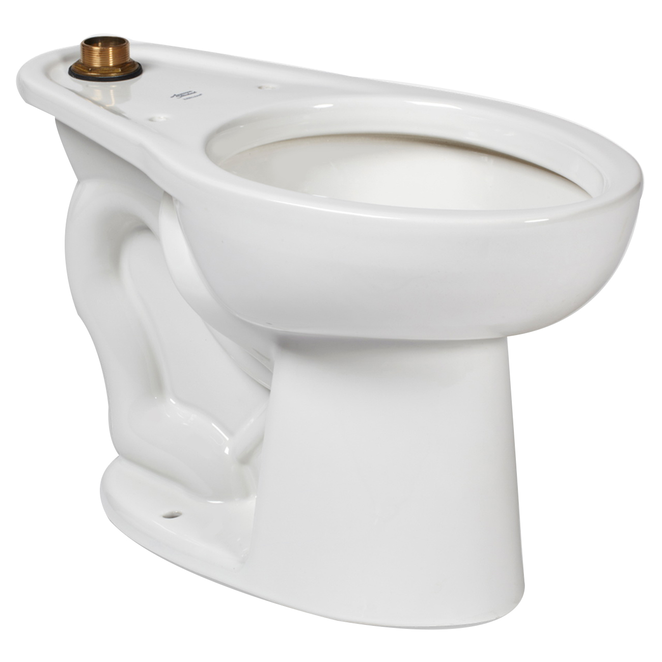 American Standard Madera™ FloWise® 3461.001.020 White Vitreous China Elongated Toilet Bowl, 12 in Rough-In, 1.1 - 1.6 gpf