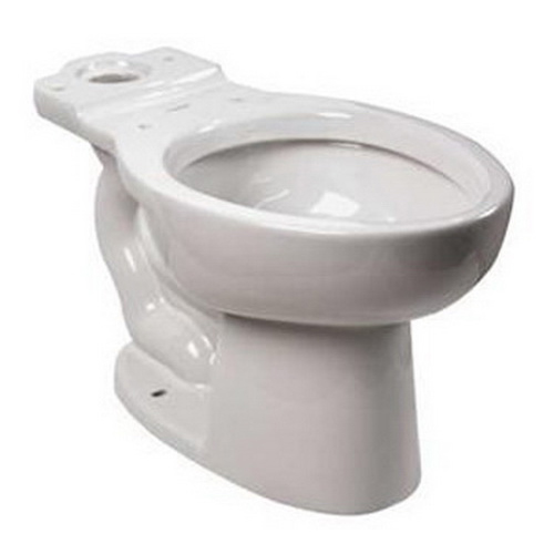 American Standard Cadet® FloWise® 3481.001.020 White Vitreous China Elongated Toilet Bowl, 12 in Rough-In, 1.1 gpf