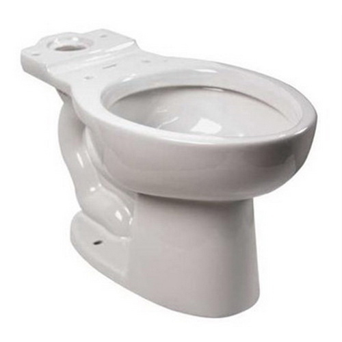 American Standard Cadet® FloWise® Right Height™ 3483.001.020 White Vitreous China Elongated Toilet Bowl, 12 in Rough-In, 1.1 gpf