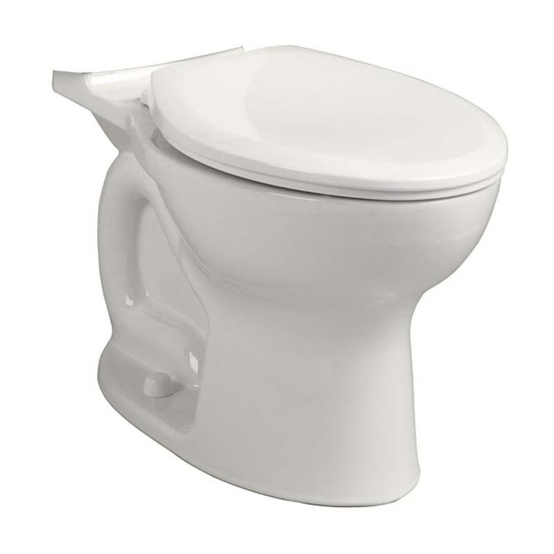 American Standard Cadet® Pro™ 3517C.101.020 White Vitreous China Elongated Toilet Bowl, 12 in Rough-In, 1.28 gpf