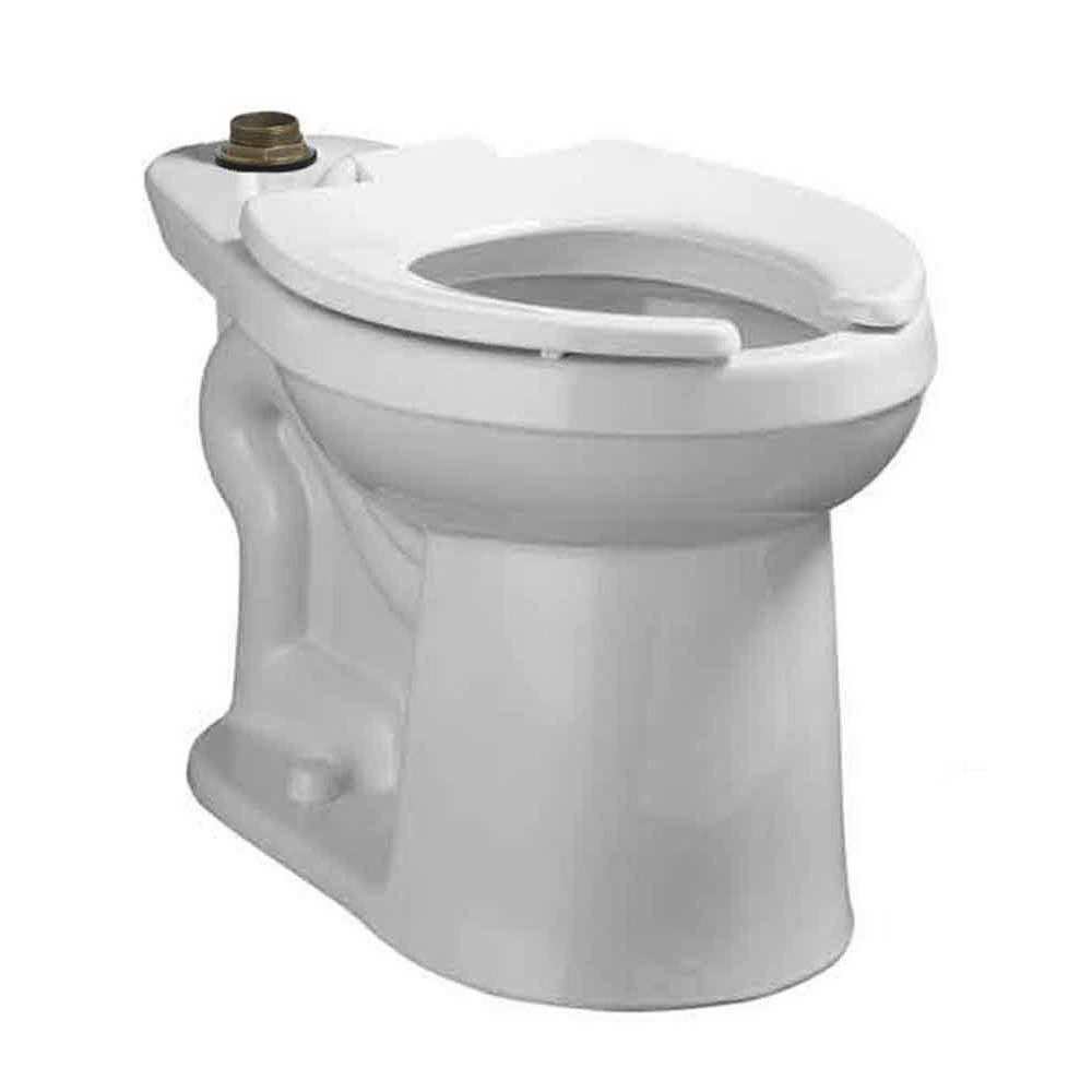 American Standard Right Width™ FloWise® 3641.001.020 White Vitreous China Elongated Top Spud Toilet Bowl, 10 in Rough-In, 1.28 - 1.6 gpf