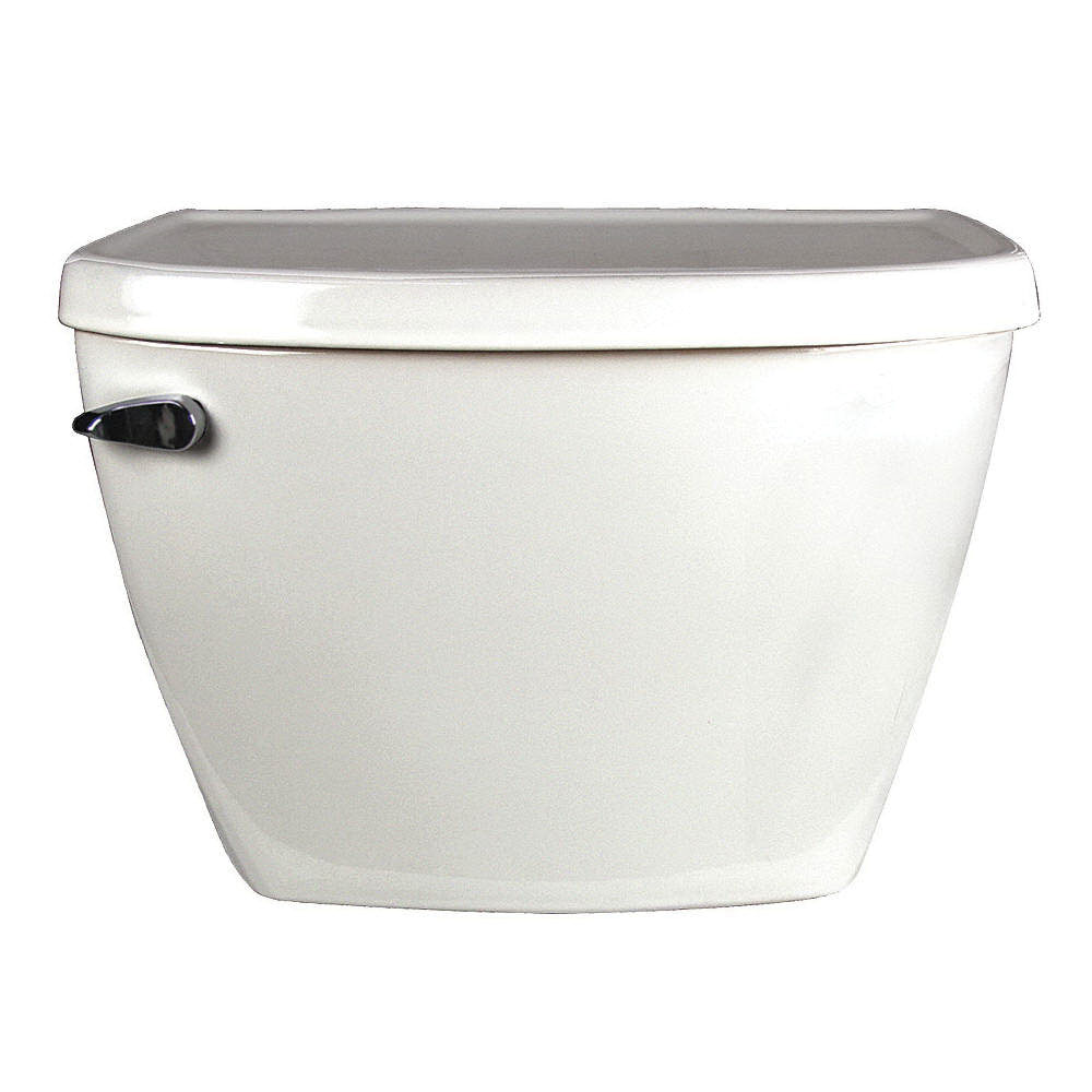 American Standard Glenwall™ 4098.100.020 White Vitreous China Left Hand Lever Toilet Tank, 1.6 gal, 12 in Rough-In