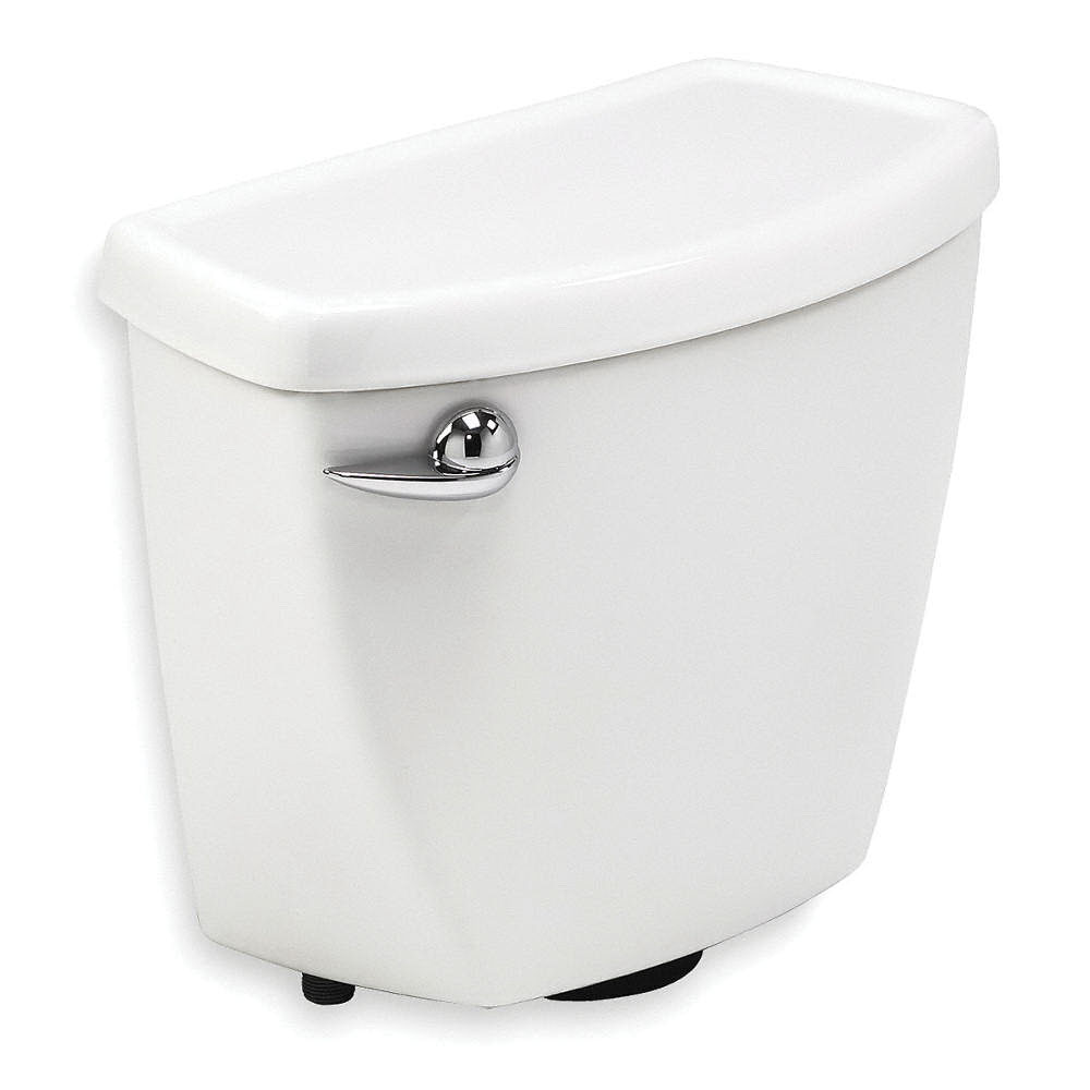 American Standard Cadet® PRO™ 4188A.104.020 White Vitreous China Left Hand Lever Toilet Tank, 1.28 gal, 12 in Rough-In