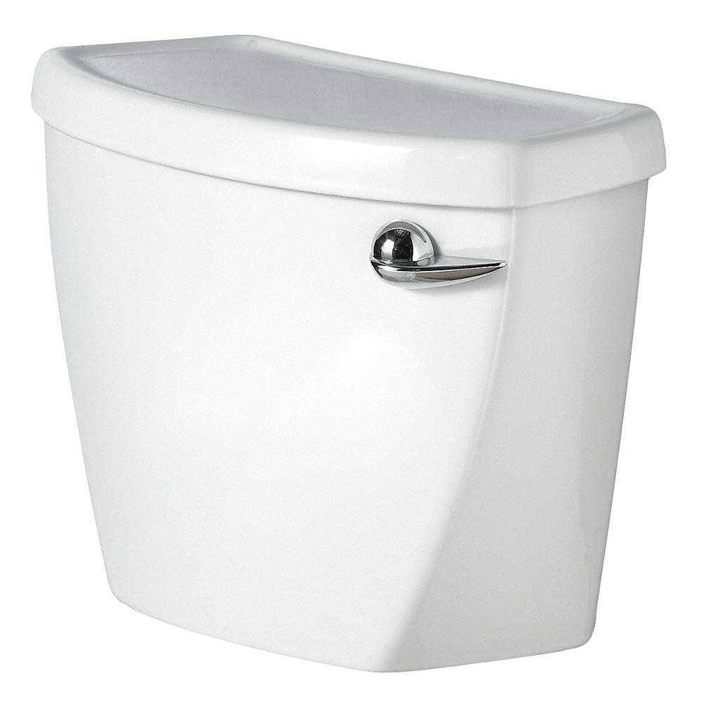American Standard Cadet® PRO™ 4188A.105.020 White Vitreous China Right Hand Lever Toilet Tank, 1.28 gal, 12 in Rough-In