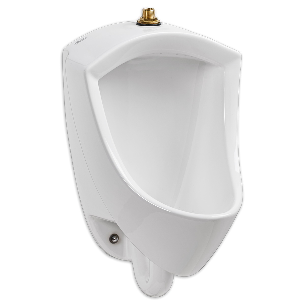 American Standard Pintbrook™ 6002.001.020 White Vitreous China Wall Mount High Efficiency Water Saving Urinal, IPS x NPT, 0.125 - 0.5 gpf