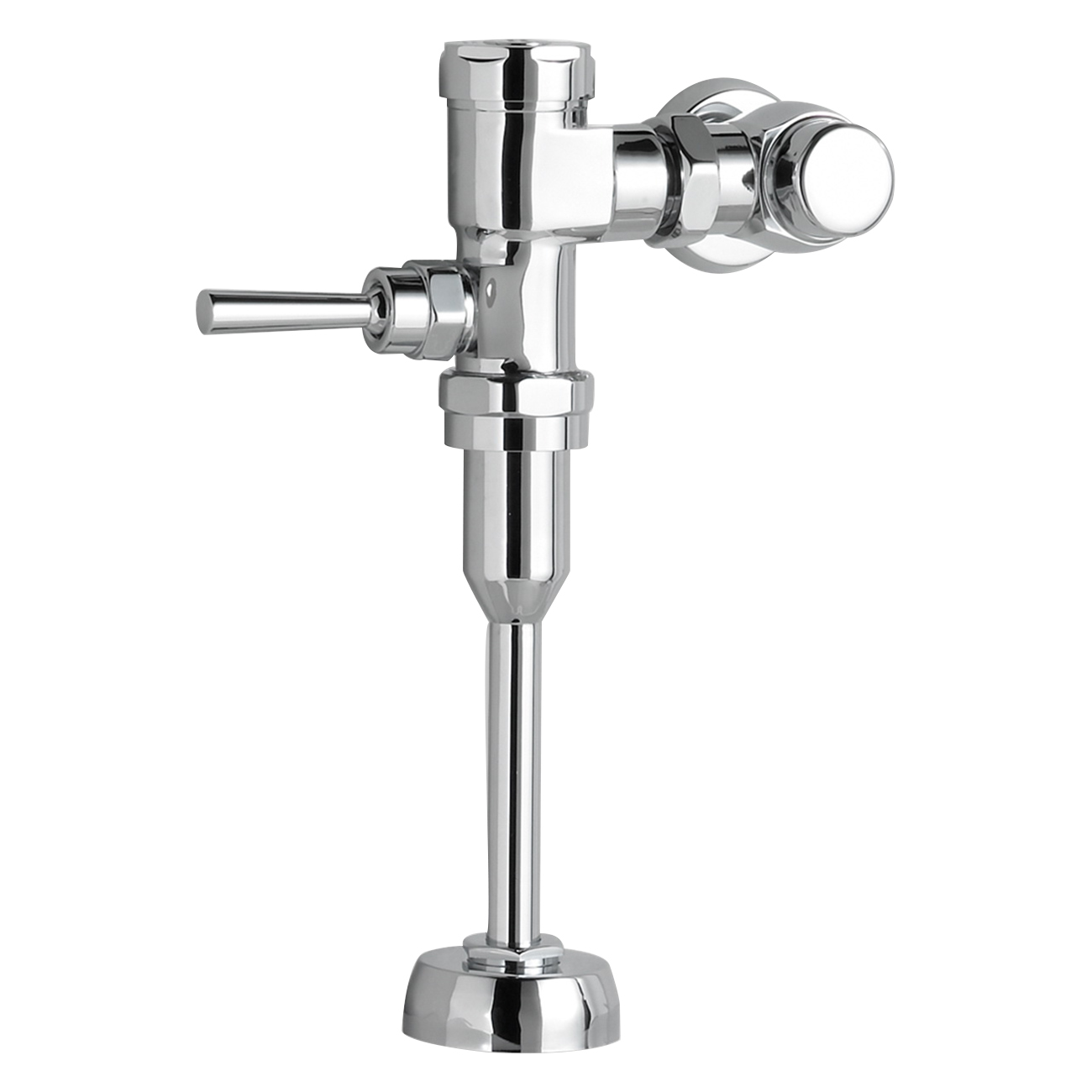 American Standard Selectronic® 6065.111.002 Polished Chrome Brass Manual Flush Valve, 3/4 in IPS, 1.1 gpf