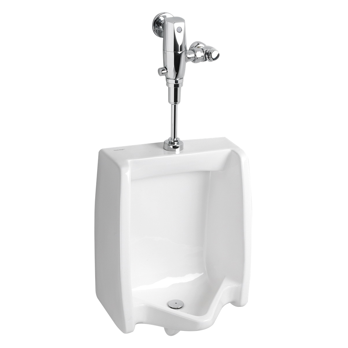 American Standard Washbrook ® FloWise® 6590.001.020 White Vitreous China Wall Mount Low Consumption Universal Urinal, NPTF Outlet, 0.125 - 1 gpf