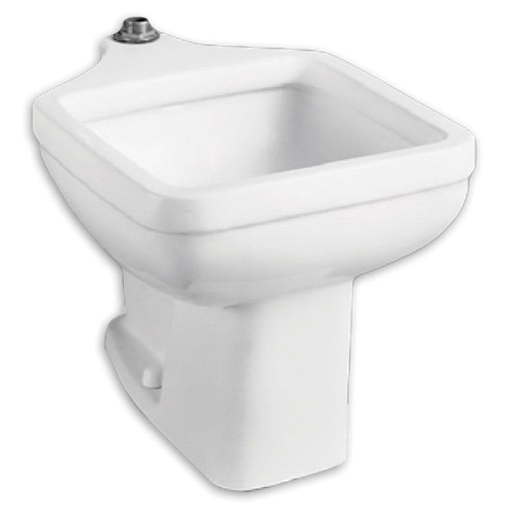 American Standard 9504.999.020 White Vitreous China Floor Mount Single Bowl Service Sink, 6.5 gal