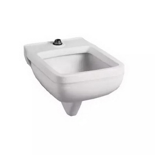 American Standard 9512.999.020 White Vitreous China Wall Mount Clinic Service Sink, 1-Bowl, 1-Faucet Holes