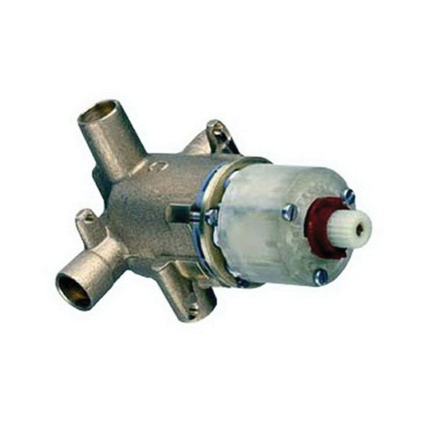 American Standard R110SS Polished Chrome Cast Brass Wall Mount Rough-In Valve with Screwdriver Stops, 1/2 in, Copperr