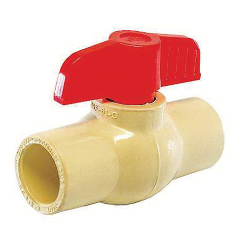 American Valve® P200CTS CPVC 1-Piece Molded-In-Place Ball Valve, CTS Socket, 150 psi, 180 deg F