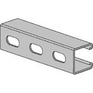 Anvil-Strut™ 2400355885 12 ga 304 Stainless Steel Channel with Elongated Holes, 20 ft L x 1-5/8 in W x 1-5/8 in H