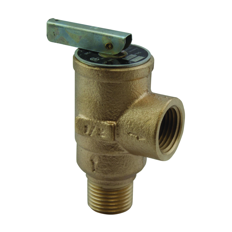 Apollo® 17-402-04 Bronze Safety Relief Valve, 3/4 in, MNPT x FNPT, 75 - 160 psi, 250 deg F