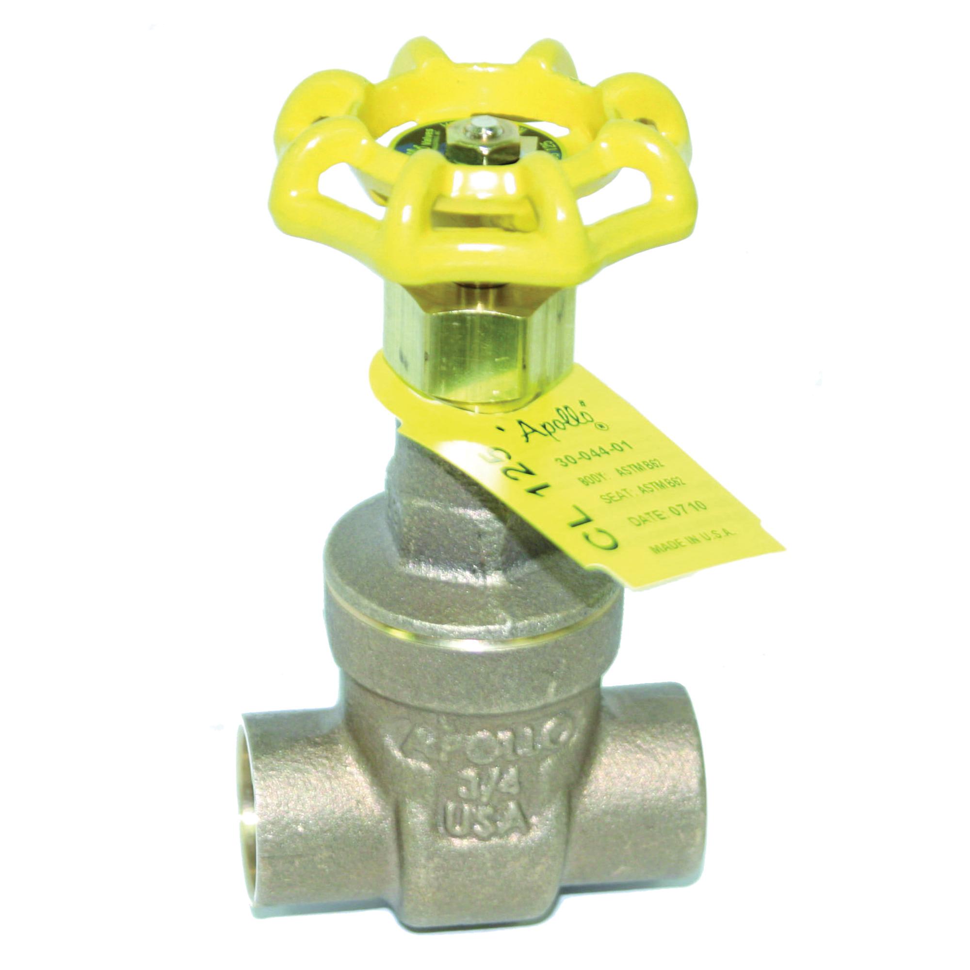 Apollo® Model 102S Bronze Non-Rising Stem Full Port Gate Valve, Solder, 200 psi, -20 to 406 deg F