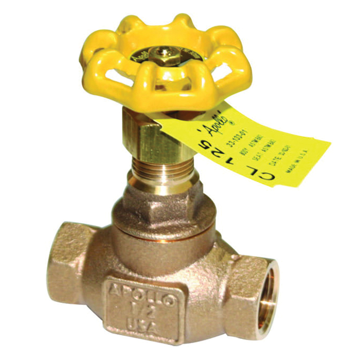 Apollo® Model 120T Bronze Globe Valve, NPT, 200 psi, -20 to 406 deg F