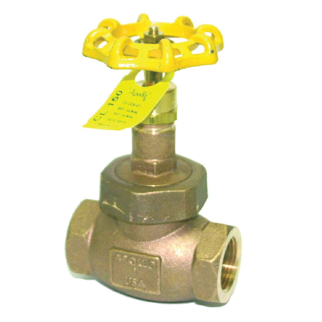 Apollo® Model 122T Bronze Globe Valve, NPT, 300 psi, -20 to 406 deg F
