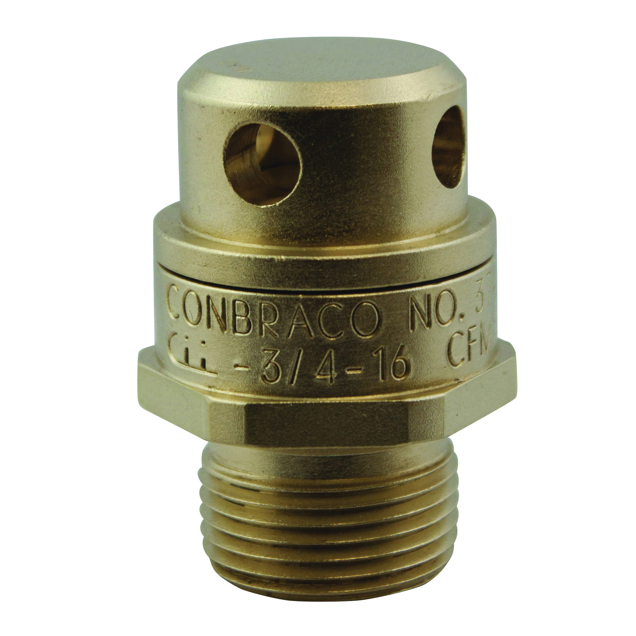Apollo® 37-202-01 Satin Brass Vacuum Relief Valve, 3/4 in, Threaded, 200 psig, 250 deg F