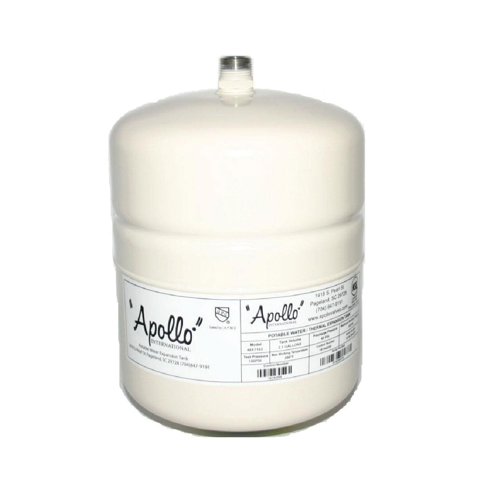 Apollo® 40XT1-04 Triple Coated Epoxy Almond Drawn Steel Lead Free Portable Expansion Tank, 2.1 gal, 3/4 in NPT
