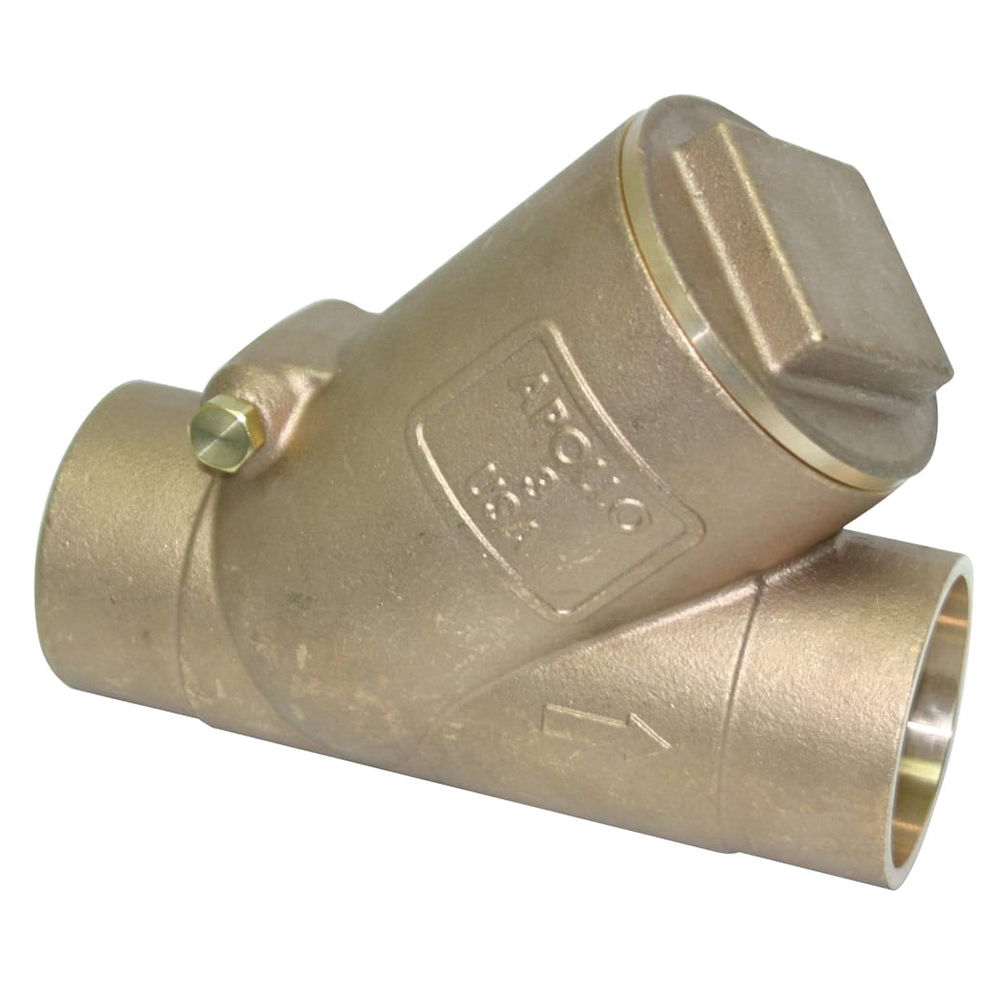 Apollo® 161S (61Y) Bronze Swing Y-Pattern Check Valve, Solder, 200 psi, -20 to 406 deg F, Domestic
