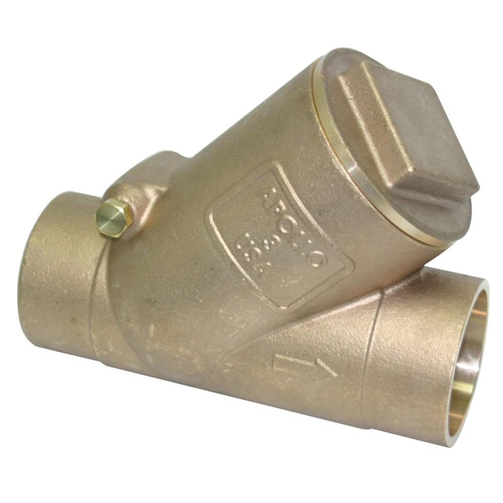 Apollo® 161S (61Y) Bronze Swing Y-Pattern Check Valve, Solder, 200 psi, -20 to 406 deg F, Domestic