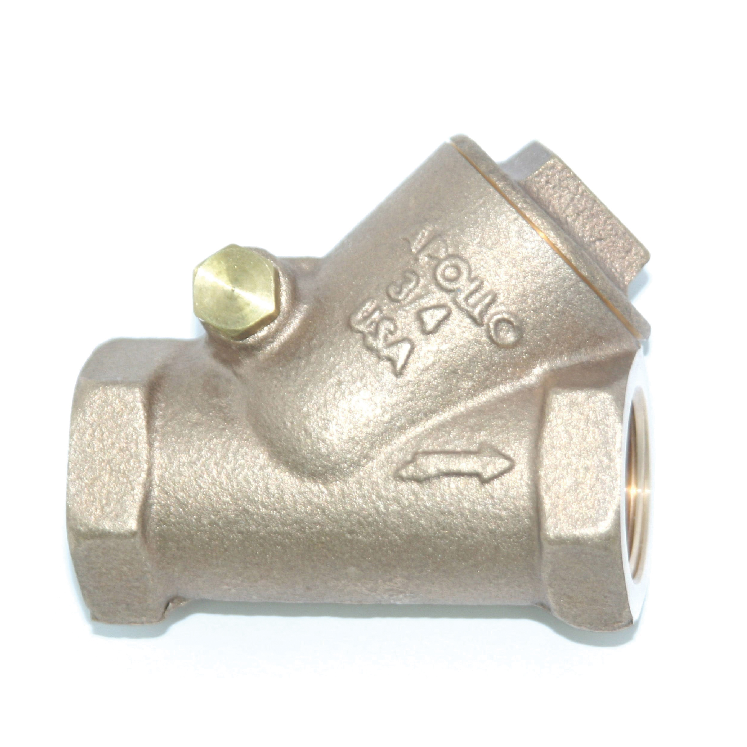 Apollo® 161T (61Y) Bronze Swing Y-Pattern Check Valve, NPT, 200 psi, -20 to 406 deg F, Domestic