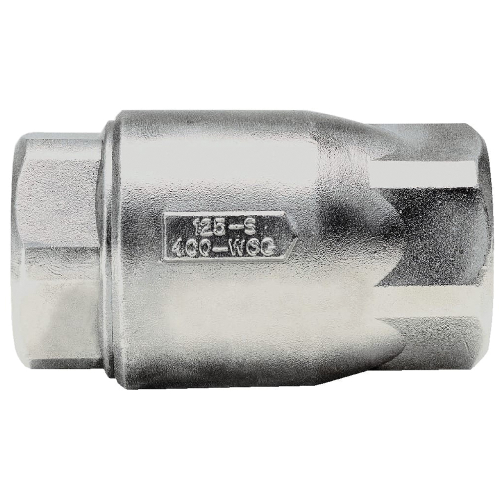 Apollo® 62-100 Series Stainless Steel Ball Cone Inline Check Valve, FNPT, 400 psig