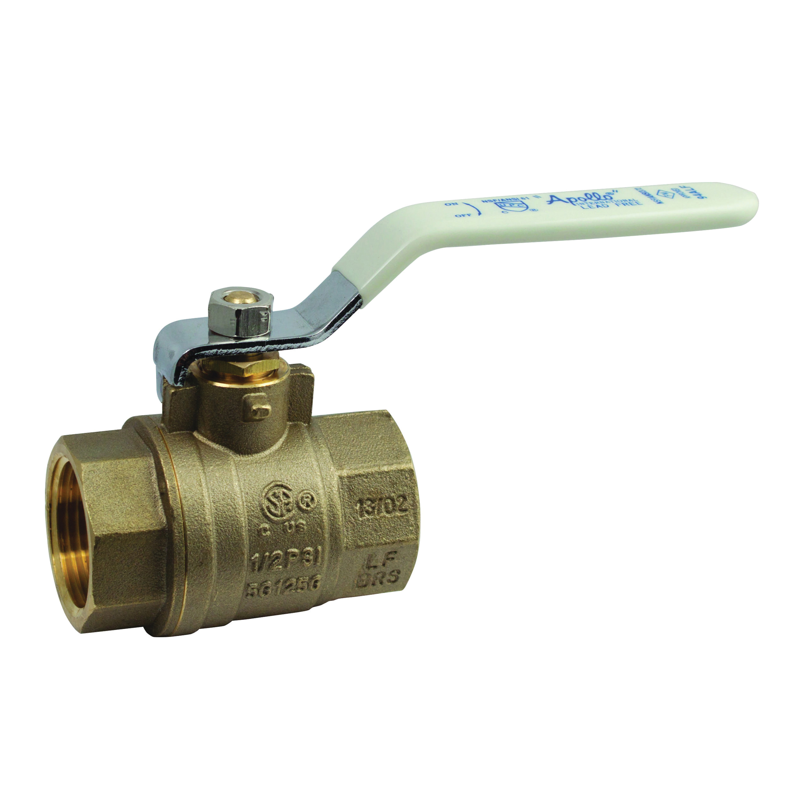 Apollo® 94ALF-A Series Lead Free DZR Brass 2-Piece Full Port Ball Valve, FNPT, -20 to 400 deg F