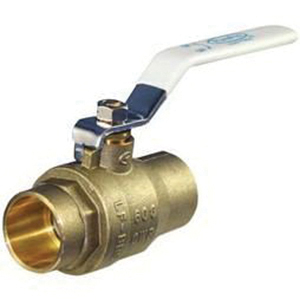 Apollo® 94ALF-A Series Lead Free DZR Brass 2-Piece Full Port Ball Valve, Solder, -20 to 400 deg F