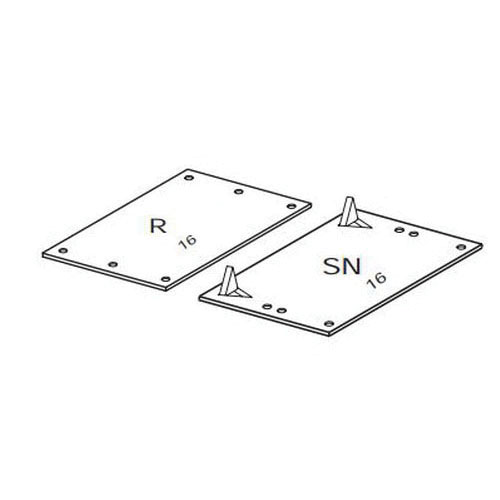 Bassett P58-16SN Safety Plate, 8 in L x 5 in W, 50/CT