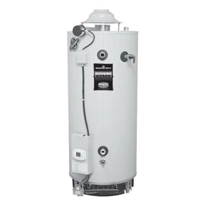 Bradford White® D-100S-199-3N Vitraglas Steel Commercial Natural Gas Water Heater, 100 gal, 1-1/2 in NPT