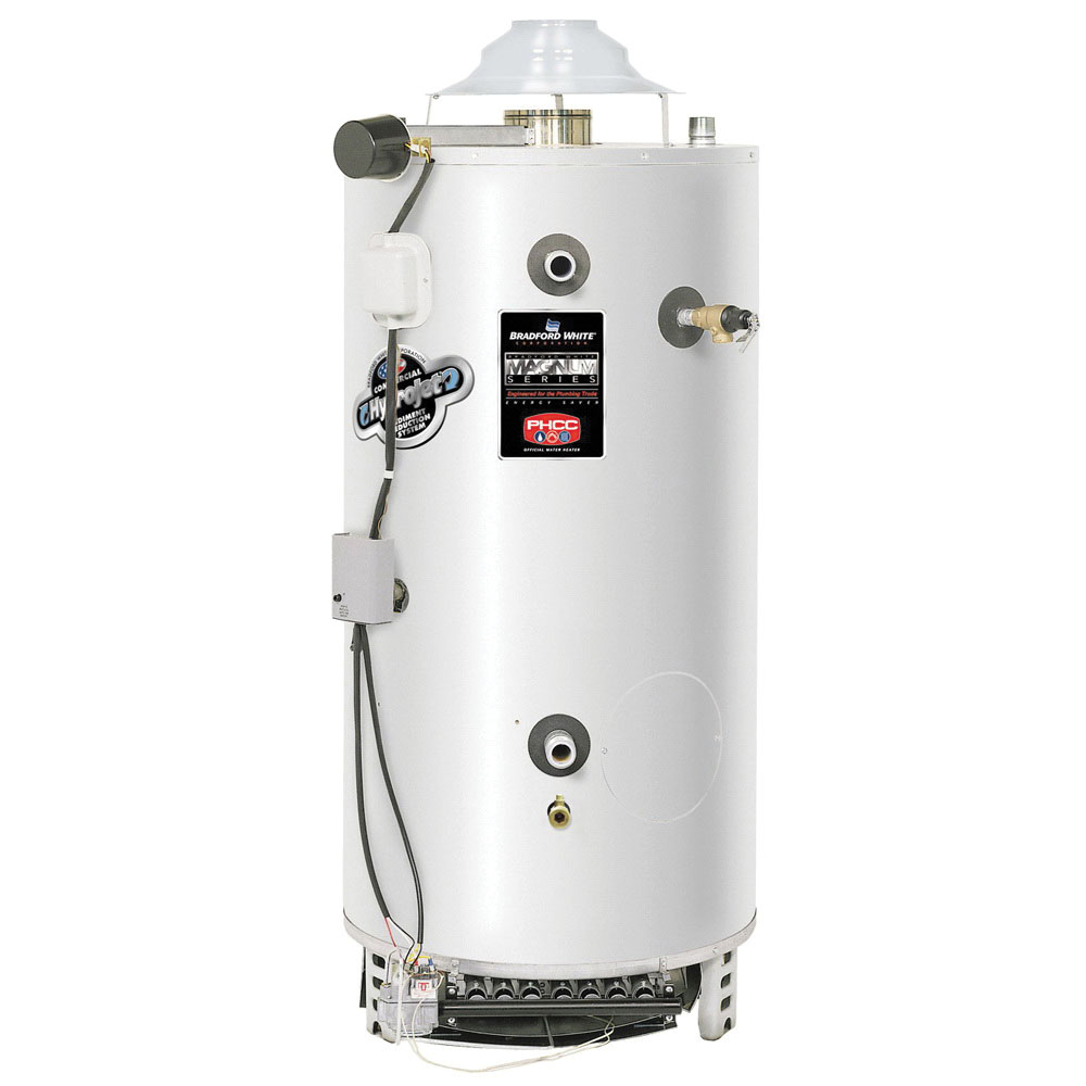Bradford White® D-80T-199-3N Vitraglas Steel Commercial Natural Gas Water Heater, 80 gal, 1-1/2 in NPT