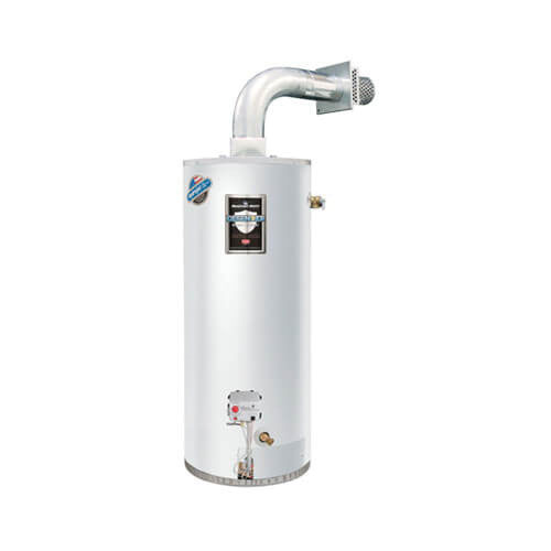 Bradford White® RG2DV50S6N-FLX Steel Natural Gas Water Heater with Flex Vent Kit, 50 gal, 12.3 kW, 3/4 in NPT