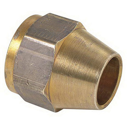 BrassCraft® 41S-4 Rough Brass 45 deg Short Flare Nut, 1/4 in, Tube