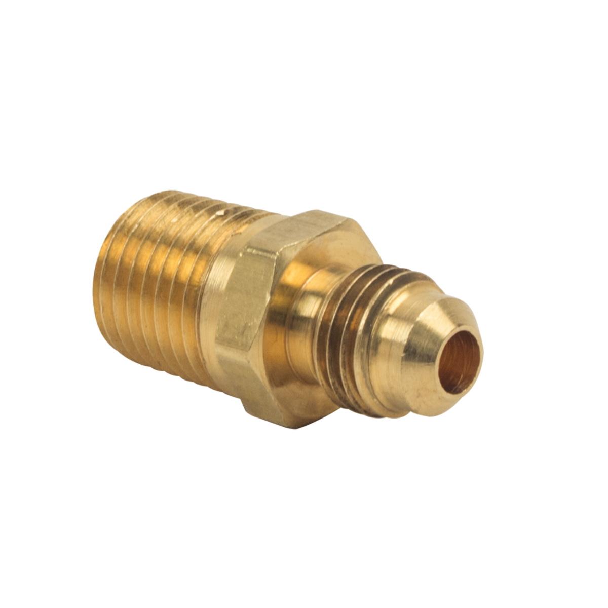 BrassCraft® 48-4-4 Rough Brass Adapter, 1/4 in, Flare x MIP