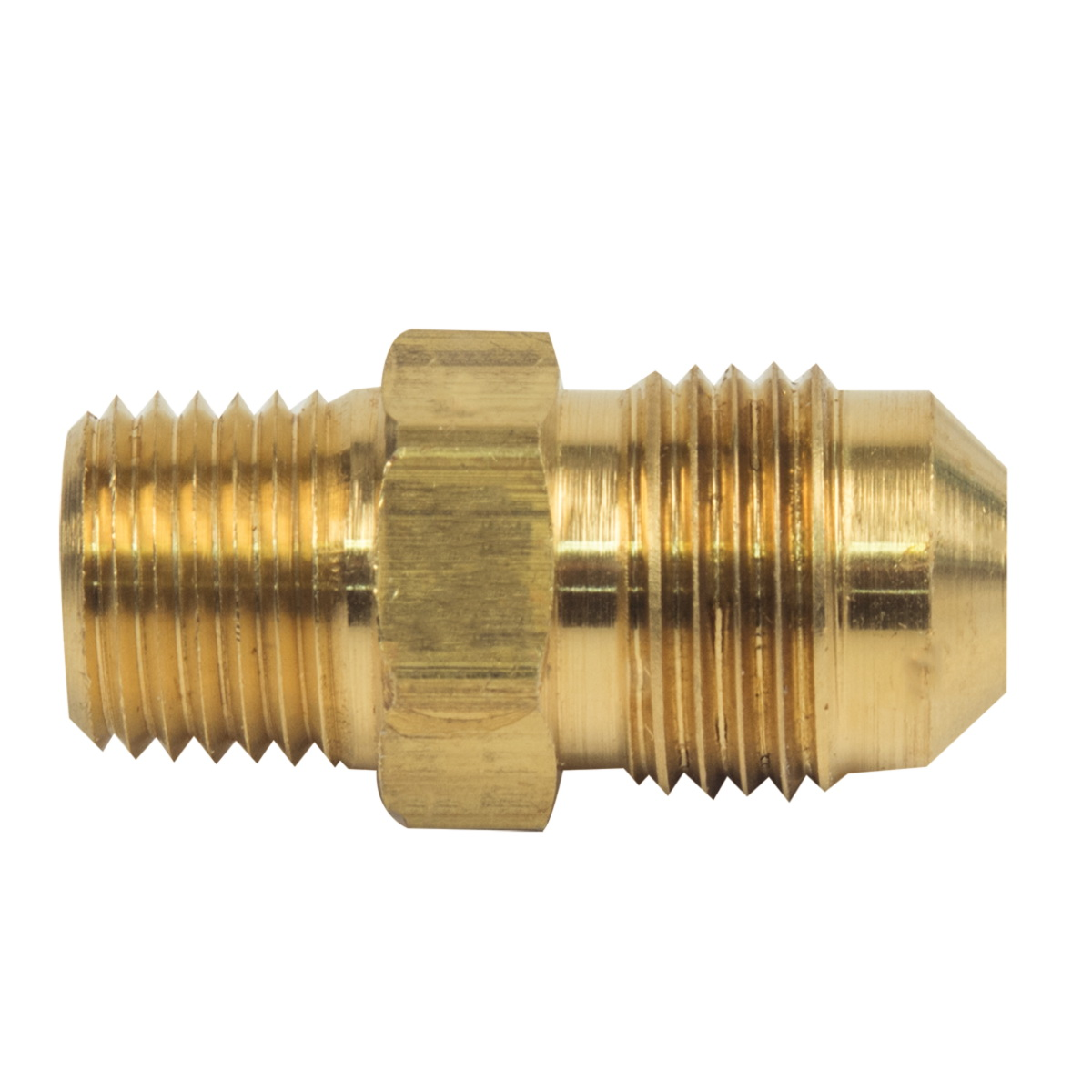 BrassCraft® 48-6-4 Rough Brass Adapter, 3/8 in x 1/4 in, Flare x MIP