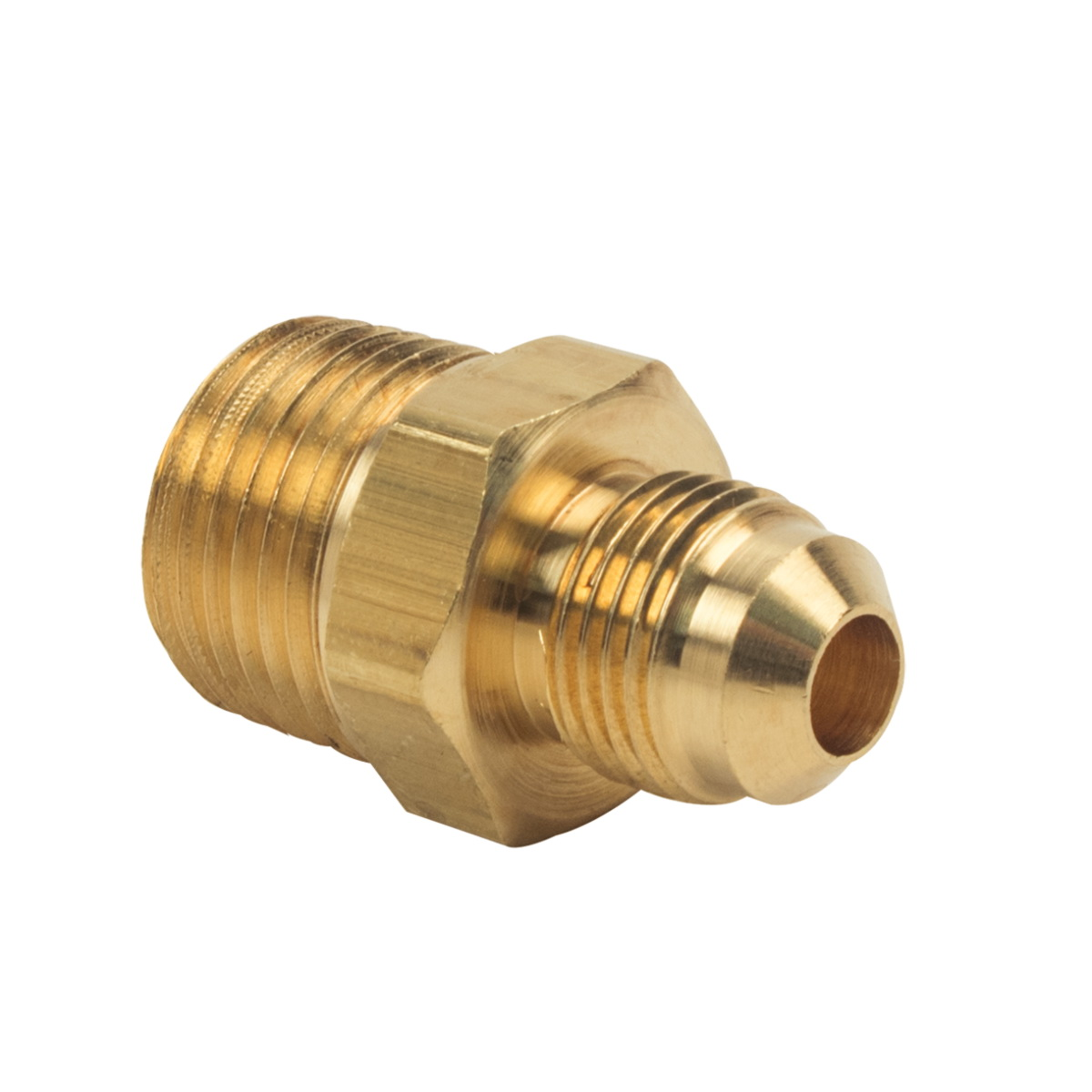 BrassCraft® 48-6-8 Rough Brass Adapter, 3/8 in x 1/2 in, Flare x MIP