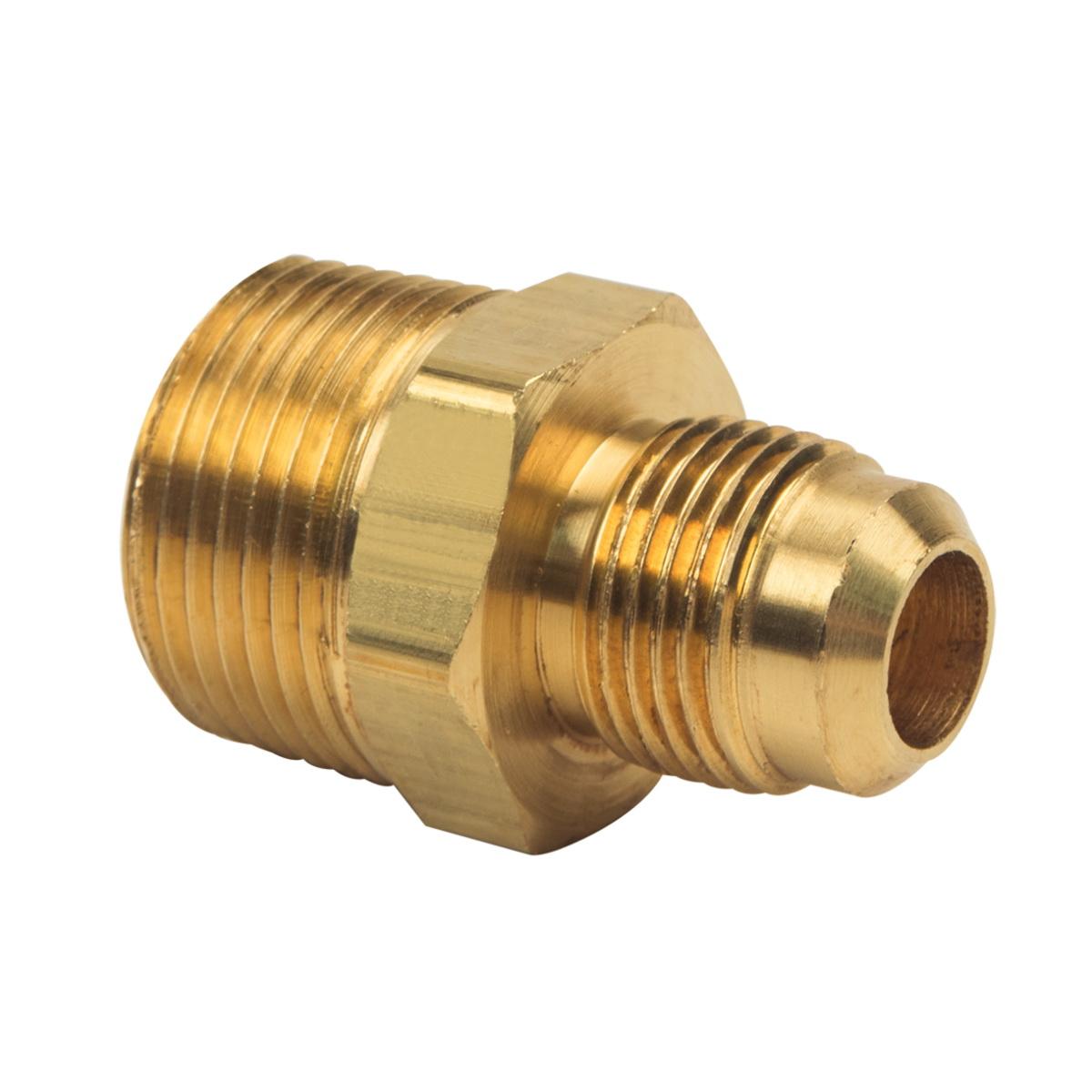 BrassCraft® 48-8-12 Rough Brass Adapter, 1/2 in x 3/4 in, Flare x MIP