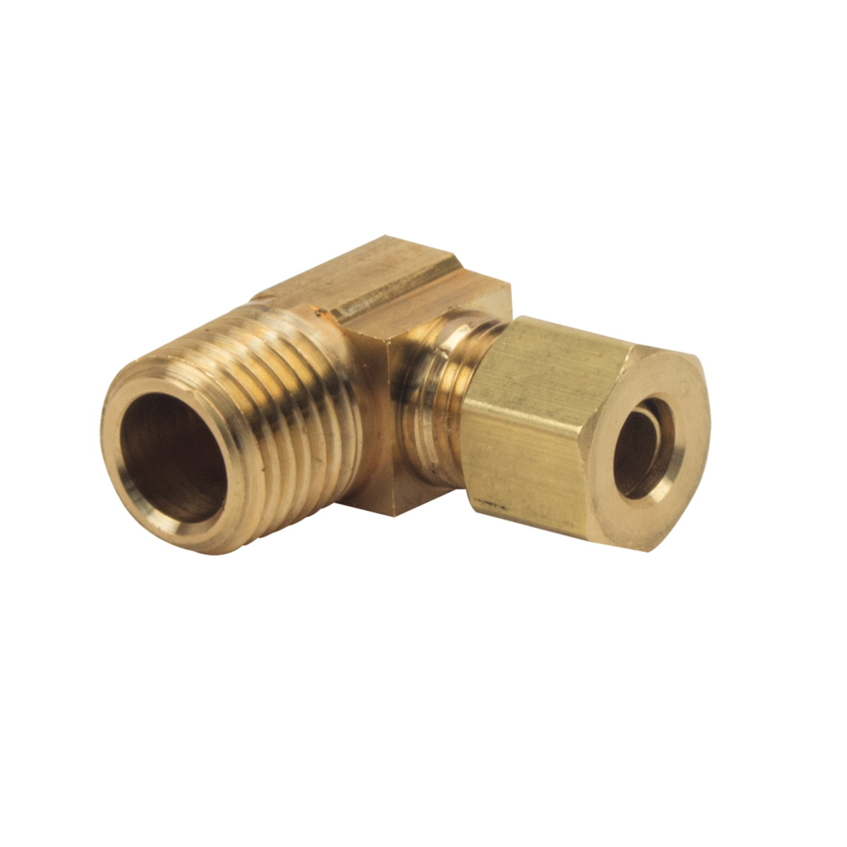 BrassCraft® 69-6-6 Rough Brass Machined 90 deg Elbow, 3/8 in x 3/8 in, Compression x MIP
