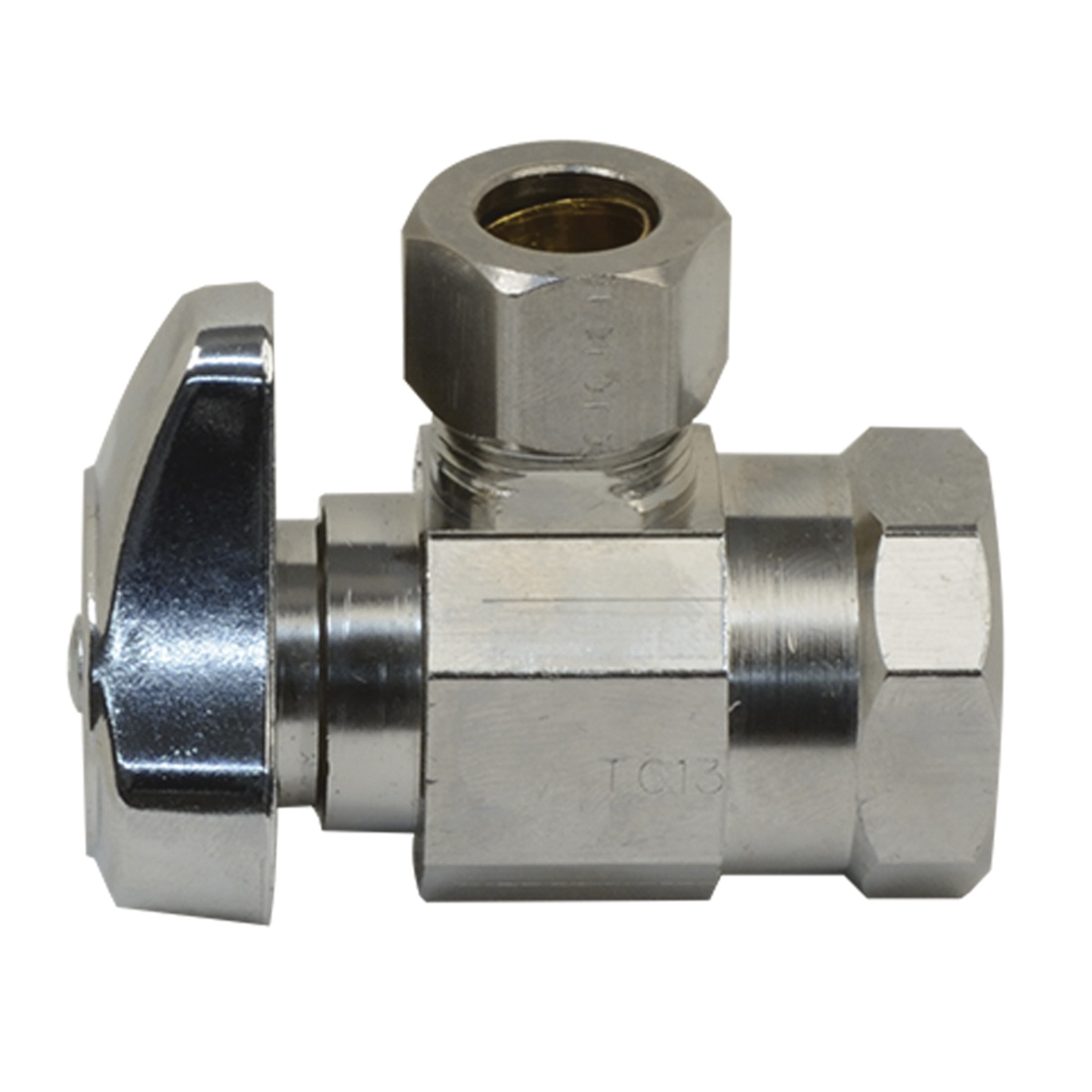 BrassCraft® G2R17XC1 Brass Angle Supply Stop Valve, 1/2 in x 3/8 in, FIP x Compression, 125 psi, 40 - 140 deg F