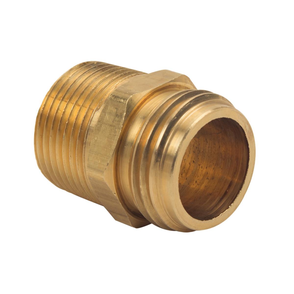 BrassCraft® HU22-12-12 Rough Brass Hose Adapter, 3/4 in, MHT x MIP