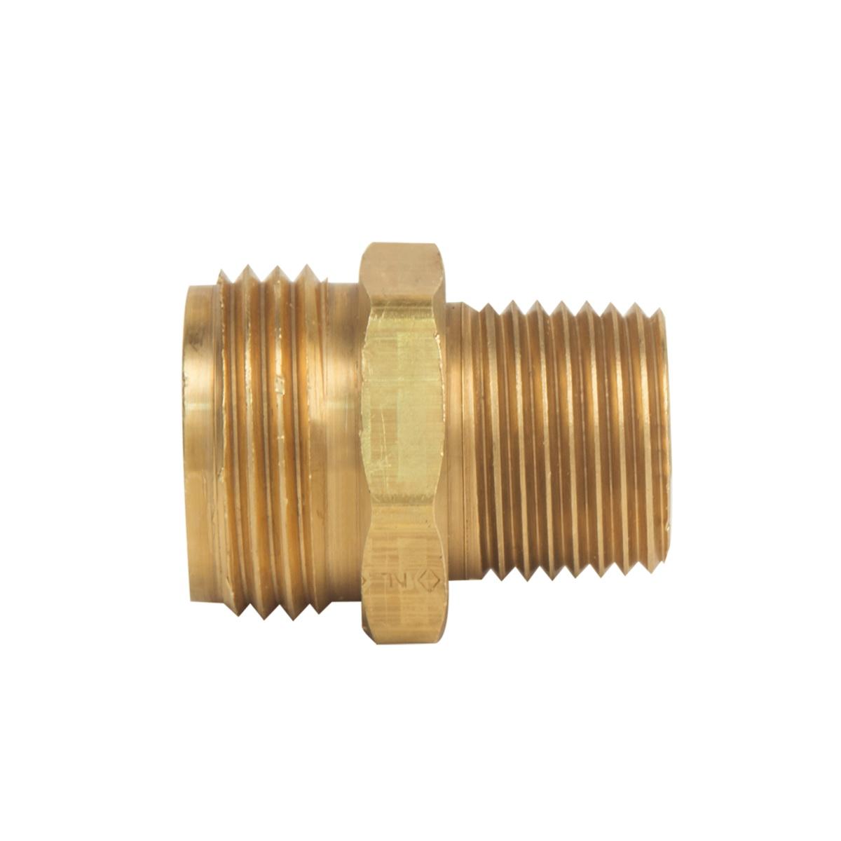 BrassCraft® HU22-8-12 Rough Brass Hose Adapter, 1/2 in x 3/4 in, MHT x MIP