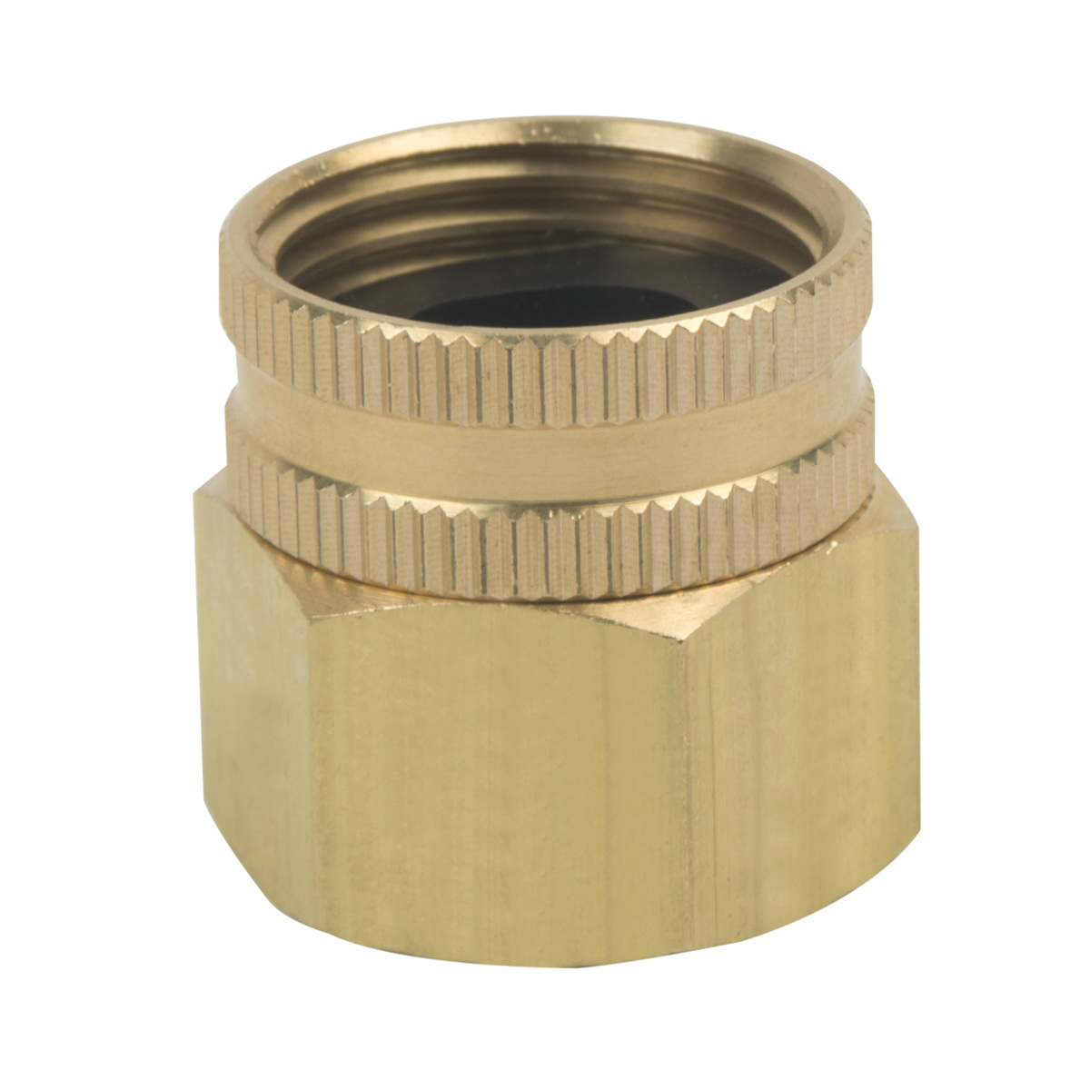 BrassCraft® HUS11-12-12 Rough Brass Hose Adapter, 3/4 in, FHT x FIP