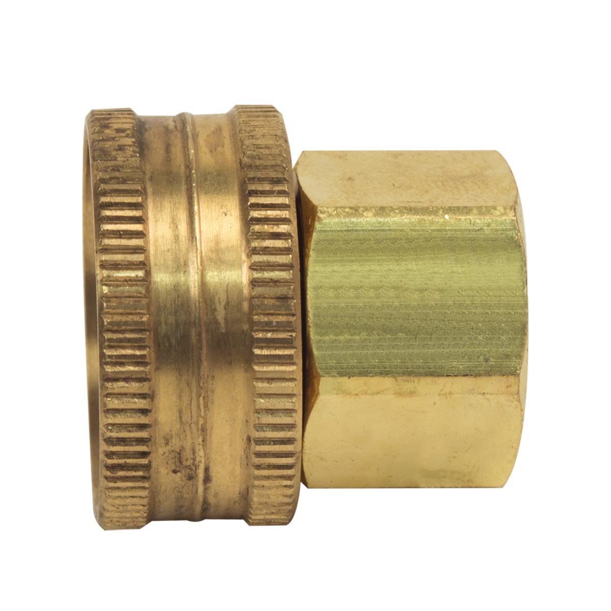 BrassCraft® HUS11-8-12 Rough Brass Hose Adapter, 1/2 in x 3/4 in, FHT x FIP