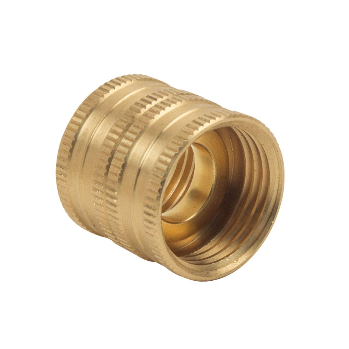 BrassCraft® HUS-12 Rough Brass Hose Union, 3/4 in, FNPT, 75 psi, 25/PK