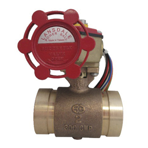 Brecco 400-00060 Bronze Powerball Valve, 2 in, Grooved, 300 psi
