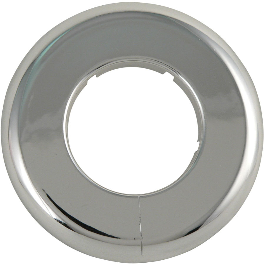 Brecco Chrome Plastic Floor and Ceiling Plate