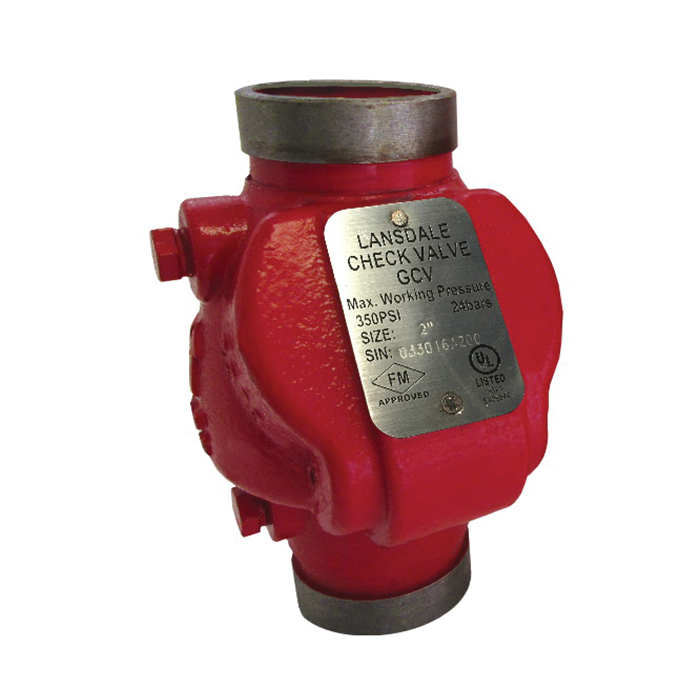 Brecco Cast Iron Swing Check Valve, Grooved, 350 psi