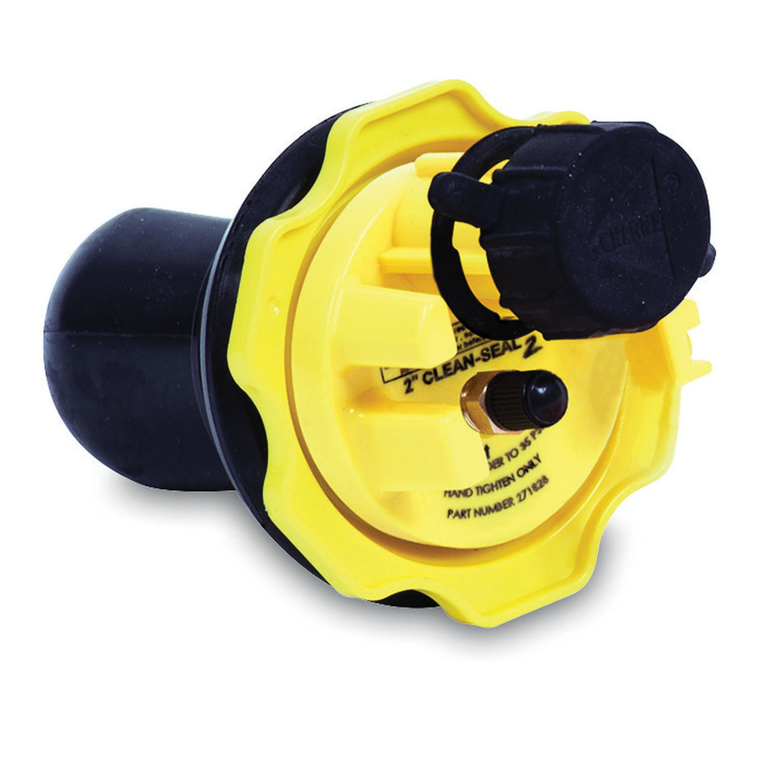 Cherne® Clean-Seal2® 271-828 Black/Yellow Rubber Test Plug, 2 in