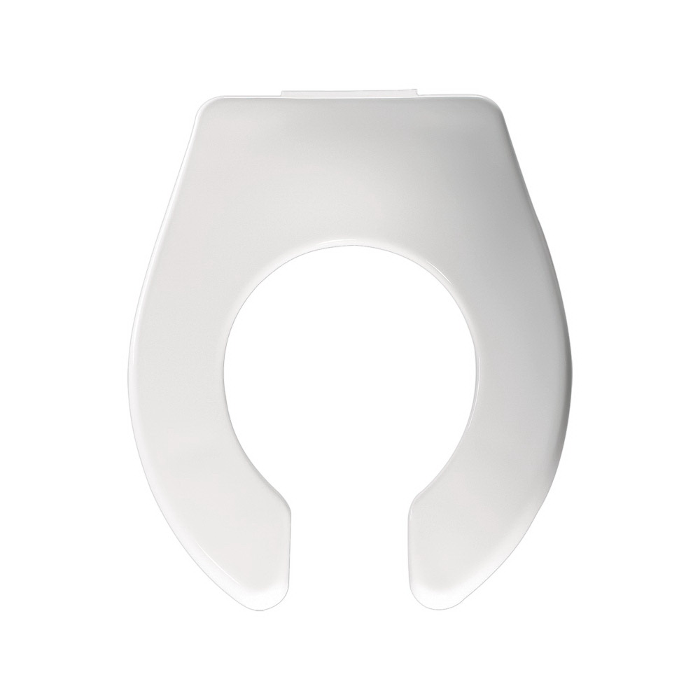 Church® 1580CT-000 Plastic Commercial Heavy Duty Toilet Seat, Toddler/Baby, White